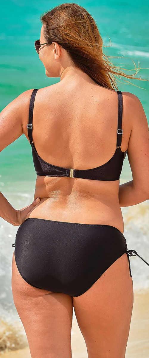 Jednofarebné čierne dámske dvojdielne plavky Astratex Michela