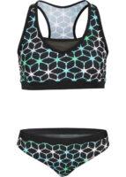 Moderné plavky športového strihu s grafickým vzorom