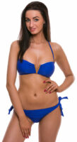 Štýlové modré dámske dvojdielne plavky s push up efektom