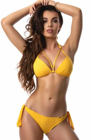 Žiarivo žlté dámske push-up plavky Paloma