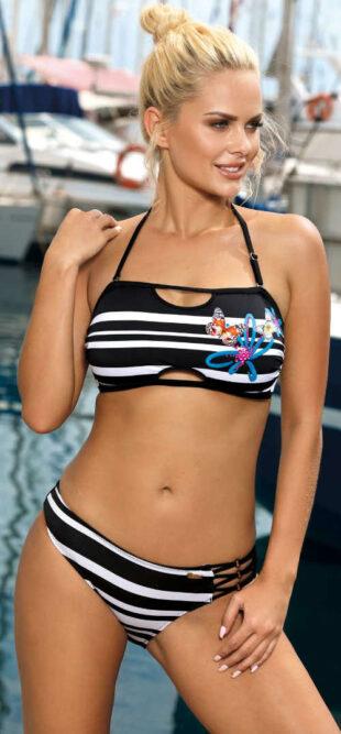 Atraktívny bandeau plavky s mäkkými košíčkami