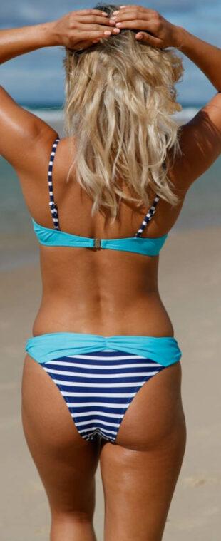 Moderné push-up plavky s brazílskymi nohavičkami
