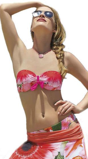 Dámske korzetové plavky Sunflair s kvetinovým vzorom