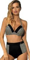Plavky pre väčšie poprsie s nastaviteľnými ramienkami a vyššími nohavičkami