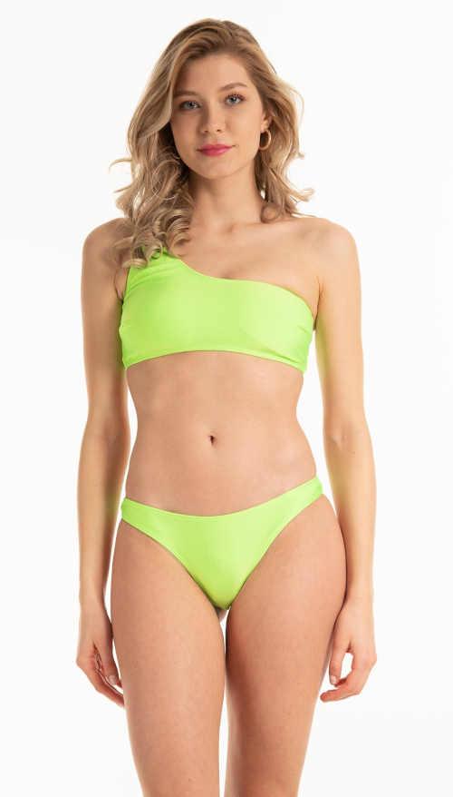 Bikinové tangá v pastelovej zelenej farbe z príjemného materiálu
