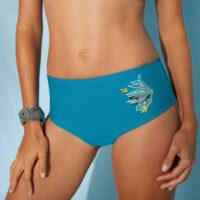 Plavky maxi nohavičky s plochým bruškom
