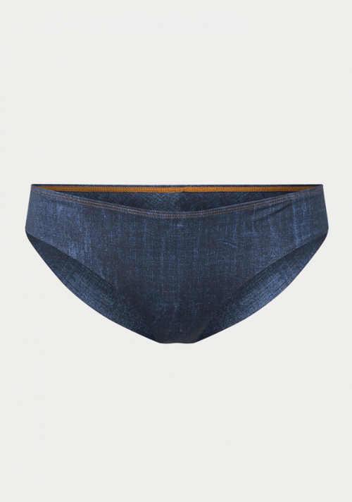 Spodný diel dámskych plaviek v džínsovom dizajne
