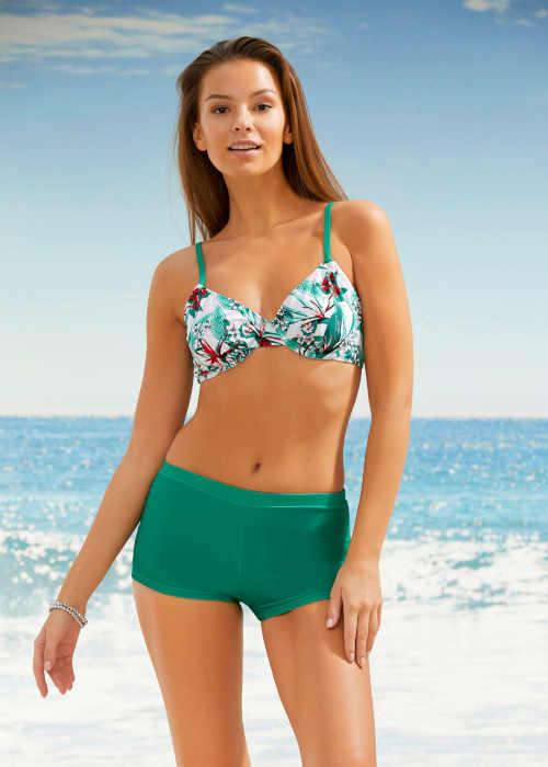 Zelené moderné plavecké šortky