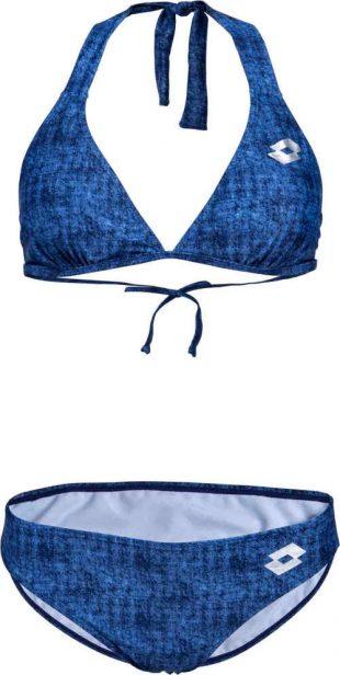 Dámske dvojdielne plavky v modernom džínsovom štýle